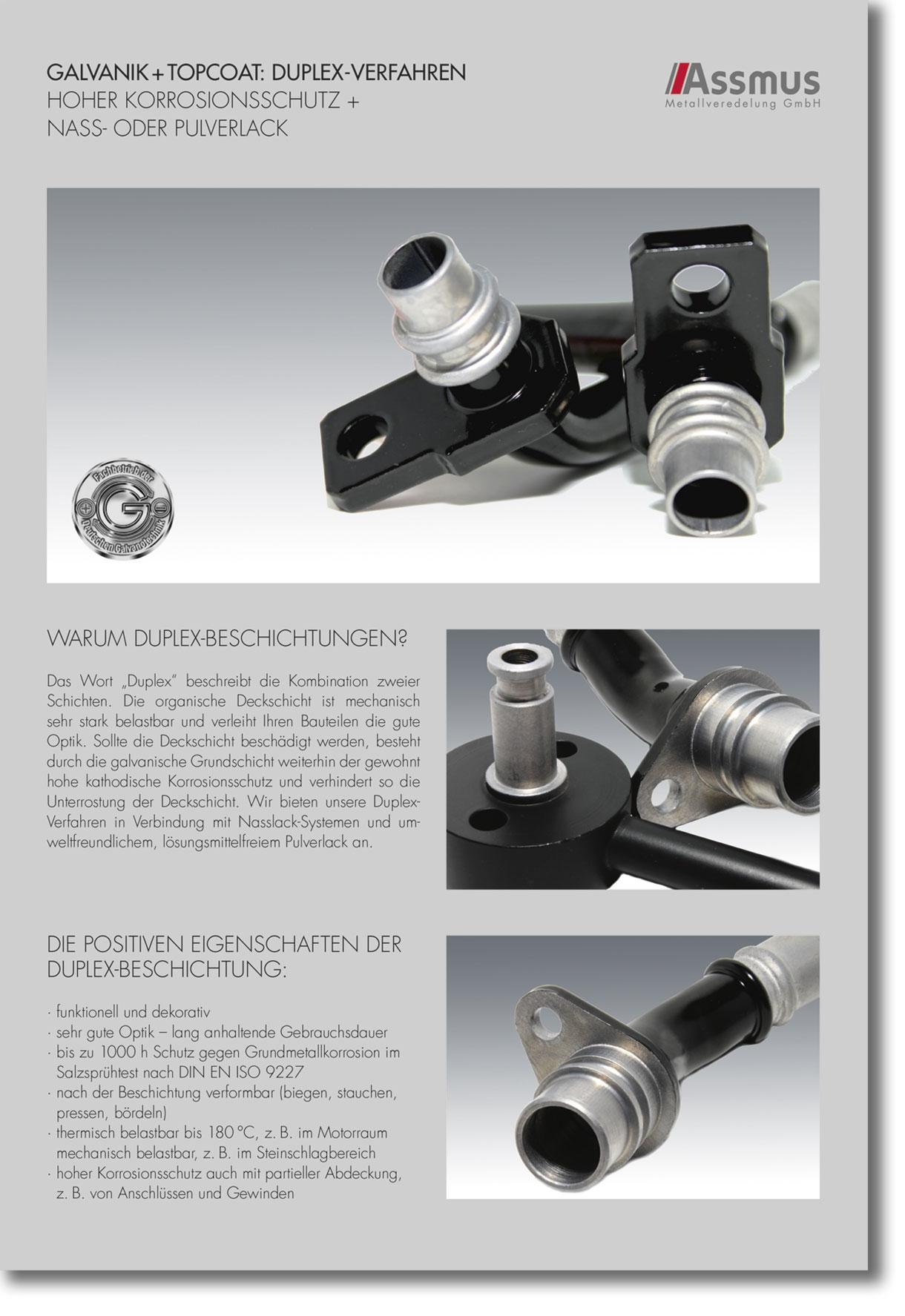 Gut gemocht Galvanisch Topcoat / Duplex Verfahren › Assmus Metallveredelung RH35